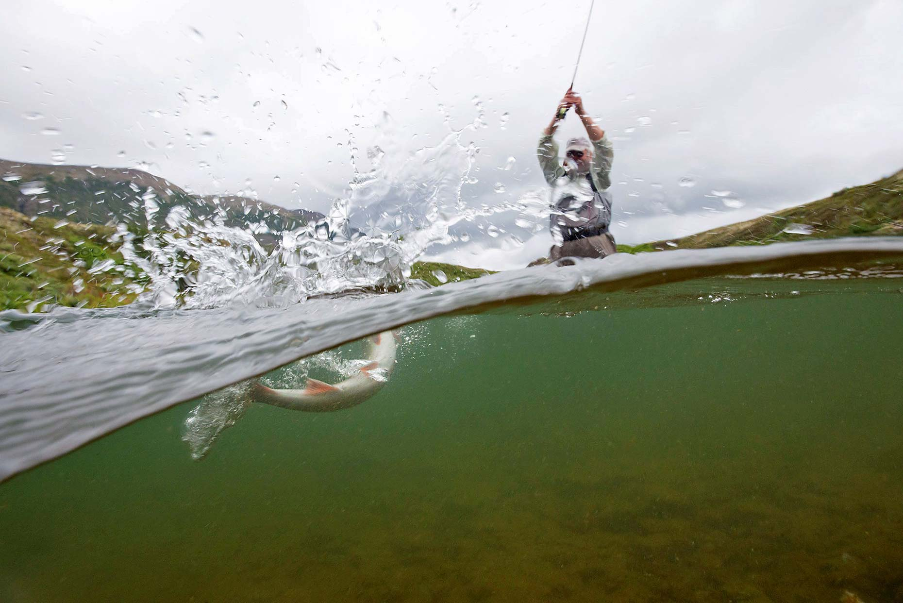 Ian-Coble-Fly-Fishing-River-Alaska-Underwater-Over-Under