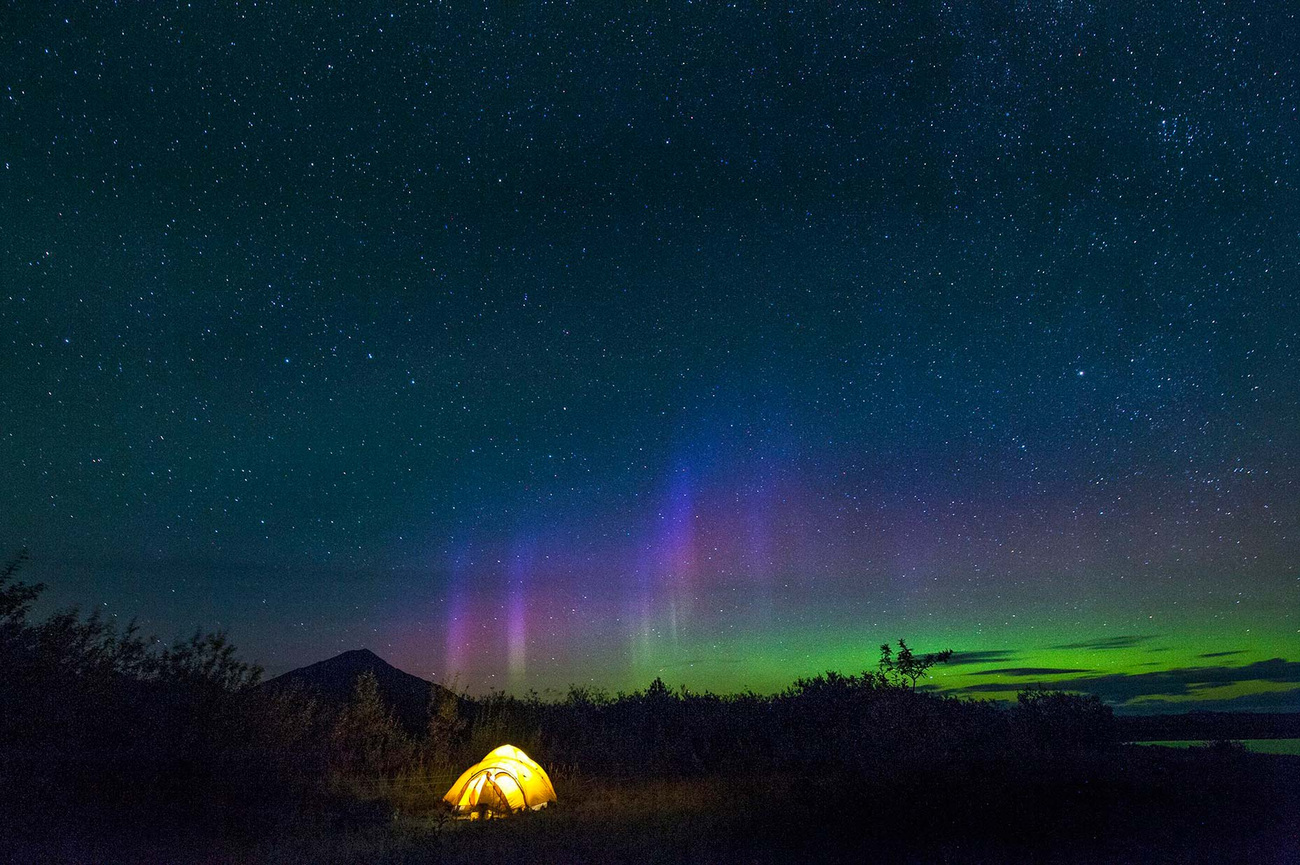 Ian-Coble-Camping-Tent-Night-Northern-Lights-Patagonia
